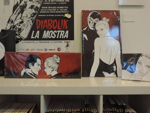 """Tele della coll. """"Diabolik&Eva"""" by Comixando al Museo Wow di Milano"""